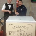 Stefano's Ice Cream giving an Ice Cream to Rob Jones