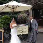 mr mrs higgins wedding ice cream tricycle