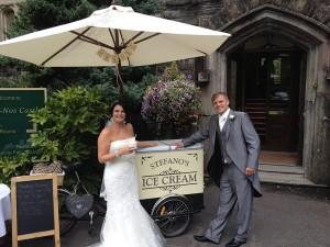 mr mrs higgins wedding ice cream tricycle